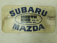 Subaru Mazda North End Massachusetts Booster License Plate (1)