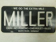 Vermont Miller extra mile Booster License Plate