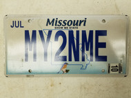 """2010 Missouri Bird Show Me State """"My Two and Me"""" License Plate MY2NME"""