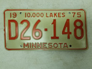 1975 Minnesota Dealer 10,000 Lakes Plate D26-148