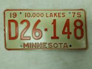 1975 Minnesota Dealer 10,000 Lakes Plate D26-148