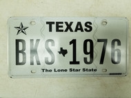Texas Lone Star State License Plate BKS-1976