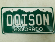 Colorado License Plate DOISON