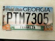 2015 GeorgiaPeach State Franklin County License Plate PTM7305