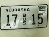 2006 Nebraska Bus License Plate 17 15 (2)