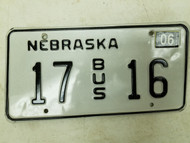 2004 Nebraska Bus License Plate 17 16