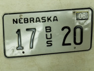 2004 Nebraska Bus License Plate 17 20