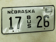 2004 Nebraska Bus License Plate 17 26