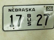2004 Nebraska Bus License Plate 17 27