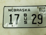 2004 Nebraska Bus License Plate 17 29