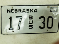 2004 Nebraska Bus License Plate 17 30