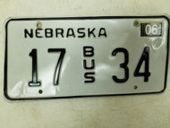 2004 Nebraska Bus License Plate 17 34