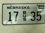 2004 Nebraska Bus License Plate 17 35