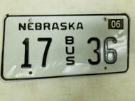 2004 Nebraska Bus License Plate 17 36