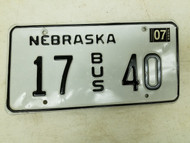 2004 Nebraska Bus License Plate 17 40