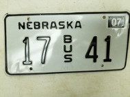 2004 Nebraska Bus License Plate 17 41