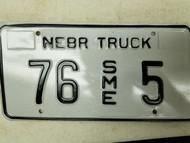 Nebraska Truck License Plate 76 5