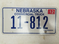 2005 Nebraska Commercial Truck License Plate 11-812