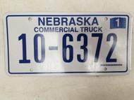 2006 Nebraska Commercial Truck License Plate 10-6372