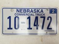 2006 Nebraska Commercial Truck License Plate 10-1472