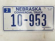 2006 Nebraska Commercial Truck License Plate 10-953