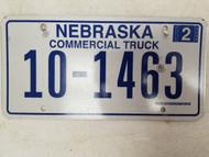 2006 Nebraska Commercial Truck License Plate 10-1463