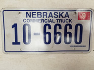 2005 Nebraska Commercial Truck License Plate 10-6660