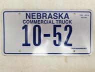 Nebraska Commercial Truck License Plate 10-52