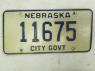 Nebraska City Government License Plate 11675