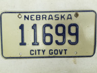 Nebraska City Government License Plate 11699