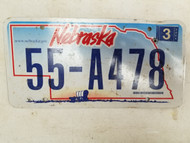 2006 Nebraska Not For Hire Farm Truck License Plate 55-A478