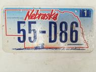 2006 Nebraska License Plate 55-D86