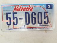 2006 Nebraska License Plate 55-D605