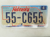 2006 Nebraska License Plate 55-C655