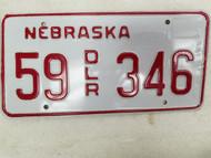 Nebraska Dealer License Plate 55 346