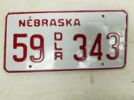 Nebraska Dealer License Plate 55 343