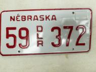 Nebraska Dealer License Plate 55 372