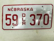 Nebraska Dealer License Plate 55 370