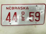 Nebraska Dealer License Plate 44 59
