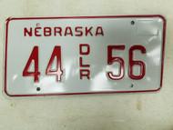 Nebraska Dealer License Plate 44 56