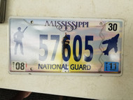2011 Mississippi National Guard Soldier Jet Lighthouse License Plate 57605
