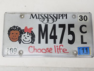 2011 Mississippi Choose Life Kids Plate M475