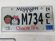 2011 Mississippi Choose Life Kids Plate M734