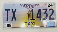 2011 Mississippi Lighthouse Sunset Taxi License Plate TX 1432