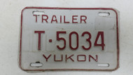 Expired Yukon Trailer License Plate T-5034