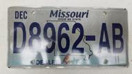 2011 MISSOURI Show Me State Dealer License Plate D8962-AB Blue Bird