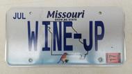 2017 MISSOURI Show-Me State Bluebird License Plate WINE-JP