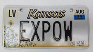 2005 KANSAS 12M Regular Truck License Plate EXPOW Sunflowers