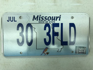 2016 MISSOURI Show-Me State License Plate 30-3FLD Field Bluebird Bird