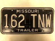 1979 MISSOURI Trailer License Plate 162-TNW
